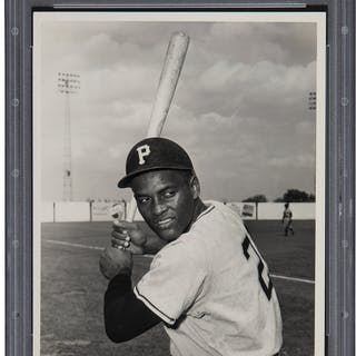 1955-56 Roberto Clemente Original Photograph by Don Wingfield, PSA/DNA Type 1.
