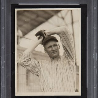 1923 Walter Johnson Original News Photograph Used for Baseball Magazine