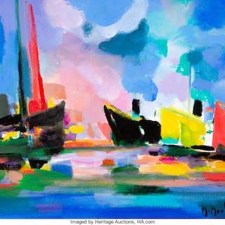 Marcel Mouly (French, 1918-2008) Le Bateau Jaune, 2000 Acrylic on
