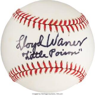 1978 Lloyd Waner Single Signed Baseball, PSA/DNA Auto Mint 9.