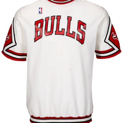 1987-88 Michael Jordan Game Worn Chicago Bulls Shooting Shirt.