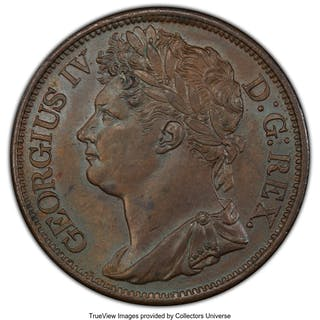 George IV Penny 1822 MS62 Brown PCGS,...