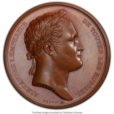 "Alexander I bronzed Specimen ""Visit to Paris"" Medal 1814 SP64 PCGS,..."