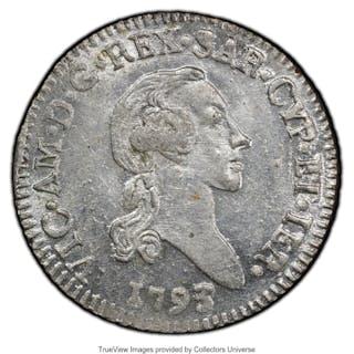 Sardinia. Vittorio Amedeo III 7.6 Soldi 1793 MS63 PCGS,...