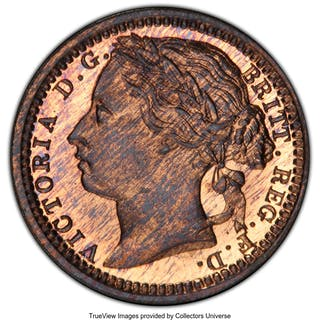 Victoria Proof 1/3 Farthing 1868 PR65 Red and Brown PCGS,...