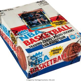 1986-87 Fleer Basketball Wax Box with 36 Unopened Packs.