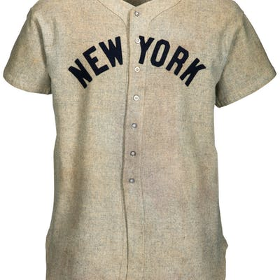 1937 Lou Gehrig Game Worn New York Yankees Jersey with Photo Matches