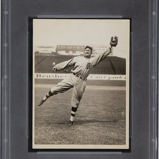 1923 Ty Cobb News Photograph, PSA/DNA Type 1.
