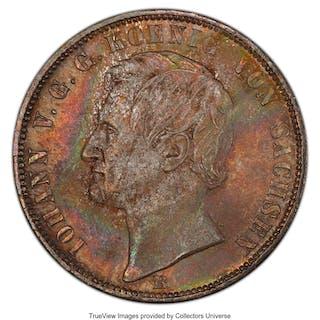 Saxony. Johann Taler 1868-B MS65 PCGS,...