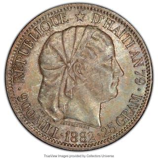 Republic Gourde 1882-(a) MS63 PCGS,...