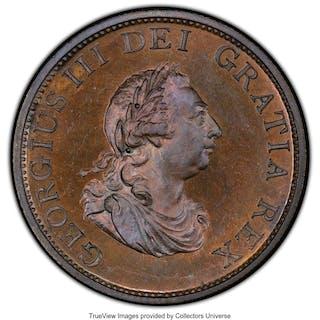 George III copper Proof Pattern 1/2 Penny 1799-SOHO PR65 Brown PCGS,...
