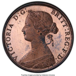 Victoria Proof 1/2 Penny 1868 PR64 Red and Brown PCGS,...