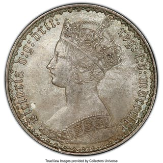 "Victoria ""Gothic"" Florin 1859 MS64 PCGS,..."