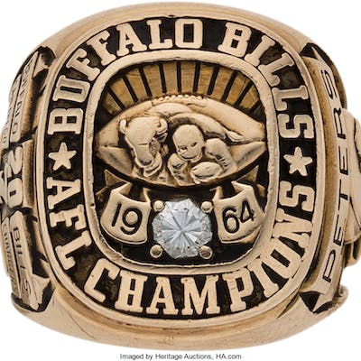 1964 Buffalo Bills AFL Championship Ring Presented to Journalist Kirk Peters.