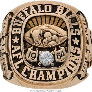 1964 Buffalo Bills AFL Championship Ring Presented to Journalist Kirk Peters.