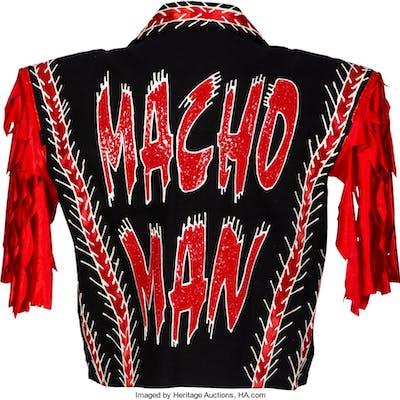 "Late 1990's ""Macho Man"" Randy Savage Ring Worn & Signed Jacket, Shirt & Pants."
