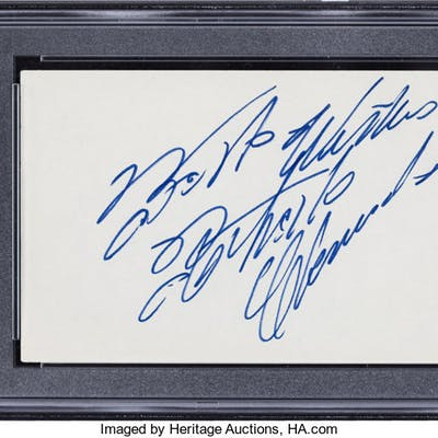 Circa 1970 Roberto Clemente Signed Index Card, PSA/DNA Mint 9.