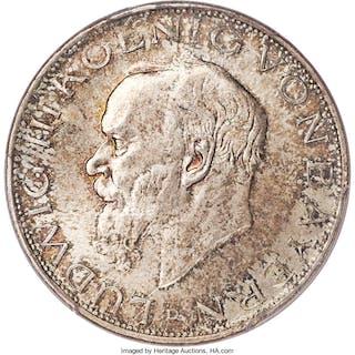Bavaria. Ludwig III 3 Mark 1914-D MS65 PCGS,...