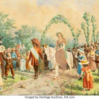 Janet Collins (American, 19th Century) Village Procession, June 1887