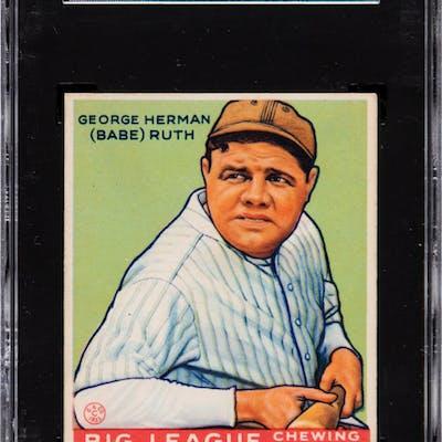 1933 Goudey Babe Ruth #181 SGC 70 EX+ 5.5.