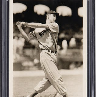 Circa 1939 Ted Williams Original Photograph by George Burke, PSA/DNA Type 1.