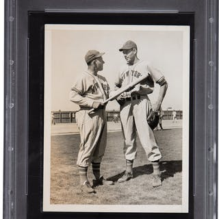 1930's Mel Ott Original Photograph, PSA/DNA Type 1.