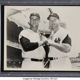 1960's Mickey Mantle & Roger Maris Original Photograph, PSA/DNA Type 1.