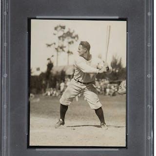 1929 Lou Gehrig Original Photograph, PSA/DNA Type 1.
