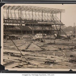 1922 Yankee Stadium Construction Original Photograph, PSA/DNA Type 1.