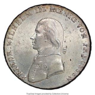 Prussia. Friedrich Wilhelm III Taler 1802-A MS63 PCGS,...