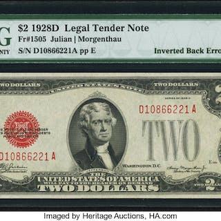Fr. 1505 $2 1928D Legal Tender Note. PMG Choice About Unc 58 EPQ. ...
