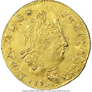 Louis XIV gold Louis d'Or 1704-& MS61 NGC,...