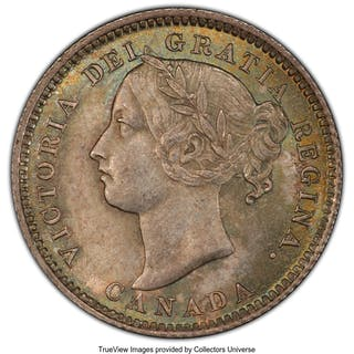 Victoria 10 Cents 1887/7 MS64+ PCGS, ...