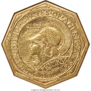 1915-S $50 OCTAGONAL
