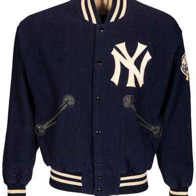 1964-67 Mickey Mantle Game Worn New York Yankees Jacket, MEARS Authentic.