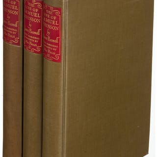 [Limited Editions Club]. James Boswell. The Life of Samuel Johnson