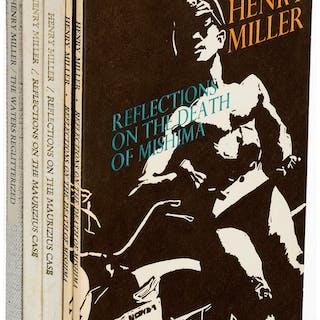 Henry Miller. Lot of Five Signed Titles (including duplicates). Santa