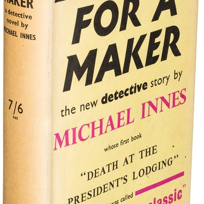 Michael Innes. Lament for a Maker. London: Victor Gollancz Ltd, 1938.