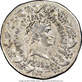 Marc Antony, as Triumvir and Imperator (44-30 BC), with Octavia. AR