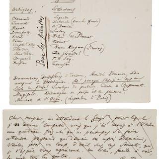Charles Baudelaire. Autograph Manuscript and Autograph Manuscript Signed.   ...