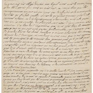 """Bernard le Bovier de Fontenelle. Autograph Letter Signed.  """"Fontanelle.""""..."""
