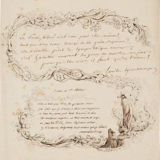 Émile Deschamps and Antoine Deschamps. Autograph Manuscript Poems