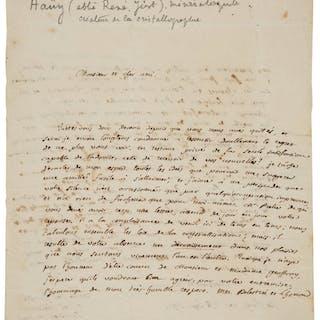 René Just Haüy. Autograph Letter Signed.  ...