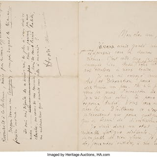 Jacques Rivière and Alain-Fournier. Autograph Letters Signed.  ...