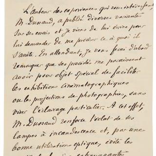 Édouard Eugène Désiré Branly. Autograph Letter Signed. ...