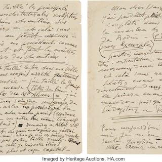 Émile-Antoine Bourdelle. Autograph Letter and Autograph Letter Signed. ...