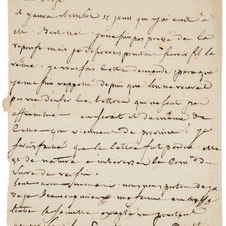 Louis Joseph Proust. Autograph Letter Signed.  ...