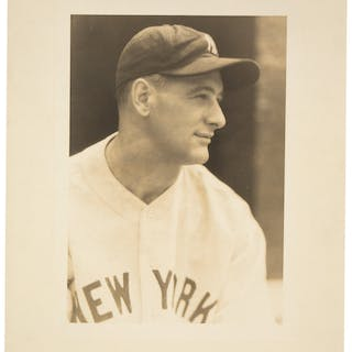 1930's Lou Gehrig Original Oversized Photograph by George Burke, PSA/DNA