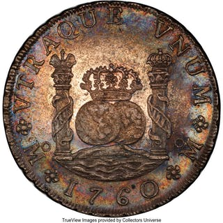 Charles III 8 Reales 1760 Mo-MM MS62 PCGS,...