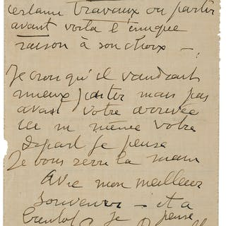 Georges Rouault. Autograph Letter Signed Twice.  ...